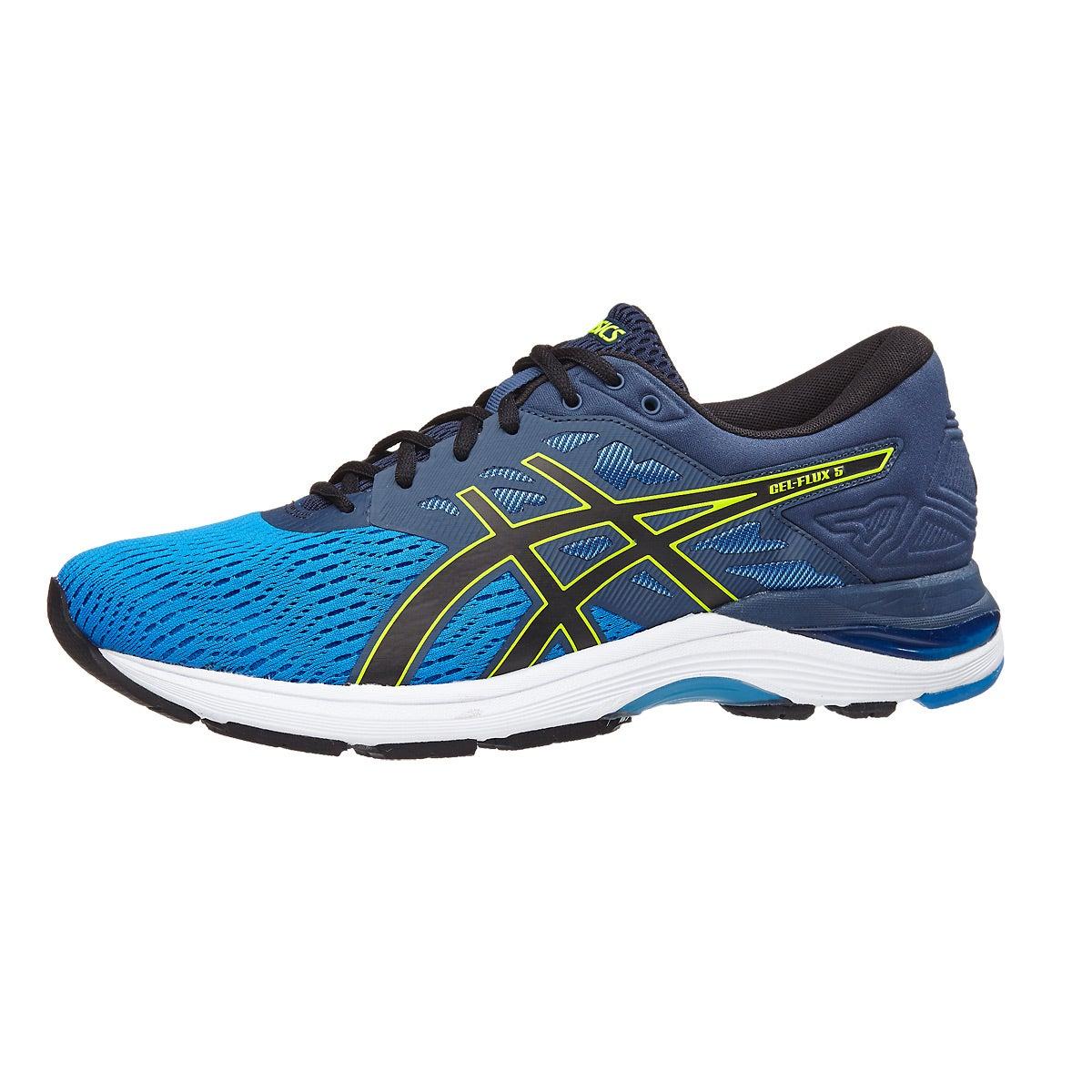 Chaussures Homme | 2593 ASICS Gel Chaussures Flux 5 Bleu/ Noir/ Jaune Vue 360 ° | 606de79 - radicalfrugality.info