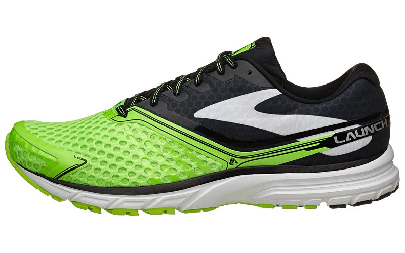 1afb529734457 Brooks Launch 2 Men s Shoes Green Black White 360° View