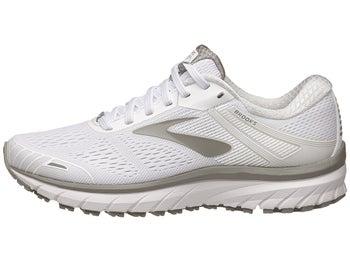 f8a1357e36d Brooks Adrenaline GTS 18 Women s Shoes White Grey
