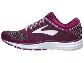 8aa854fffd5c1 Brooks Revel Women s Shoes Plum Pink Black