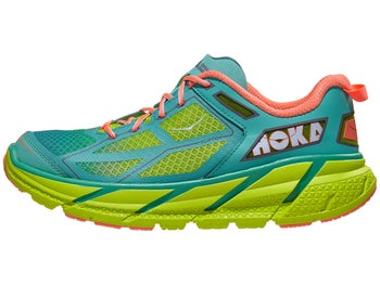 finest selection 054c4 fd4b7 HOKA ONE ONE Clifton 1 Women's Shoes Acid/Aqua/Coral
